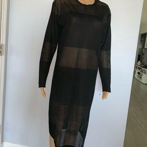 ASOS black below the knee dress